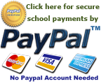 Click for secure school payments with PayPal.