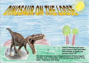 'Dinosaur on the Loose' by James
