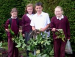 School Garden 2010 - Rachel, Amy, James, Rebecca