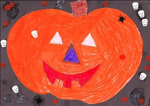 'The Pumpkin' by Megan.