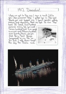 'My trip on the Titanic', by Mollie.
