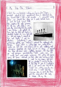 'My Trip on the Titanic' by Patrick.