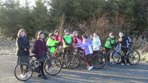 Having fun on our bikes!