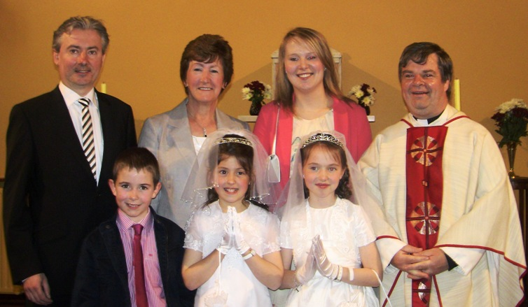 Joseph, Megan and Lorna after celebrating their First Holy Communion in Carras Church on the 20th May 2012.