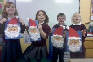 Here we are - happy kids /  happy Santas!
