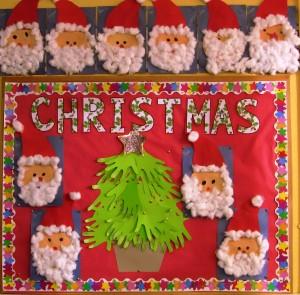 Our Christmas Art display.