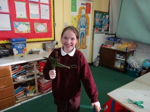 Lorna shows her cross