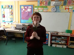 Conal shows his cross