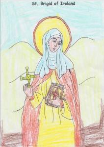Evan's picture of St.Bridget