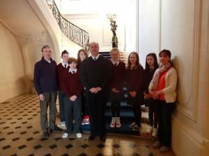 With Paul Kavanagh, Irish ambassador to France.