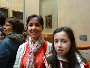 Sandie and Rachel at the Louvre.