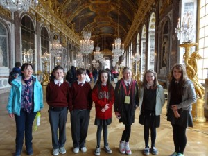 The Hall of Mirrors in Versailles.