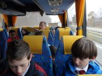 On the coach to the Maginot Line - Justin and Enda.
