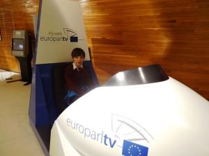 At the European Parliament, Strasbourg.