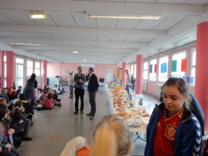 The teachers and parents hosted a farewell party for us!