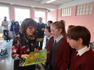 Mme. Wendenbaum presented us, and our school, with gifts.