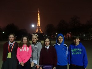 Tonight we said goodbye to the Eiffel Tower.