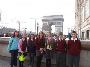 At the Arc de Triomphe