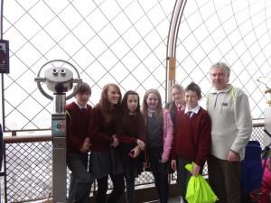 Au sommet de la Tour Eiffel.