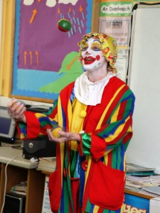 Nancy the Clown at Gortskehy N.S. Open Day.