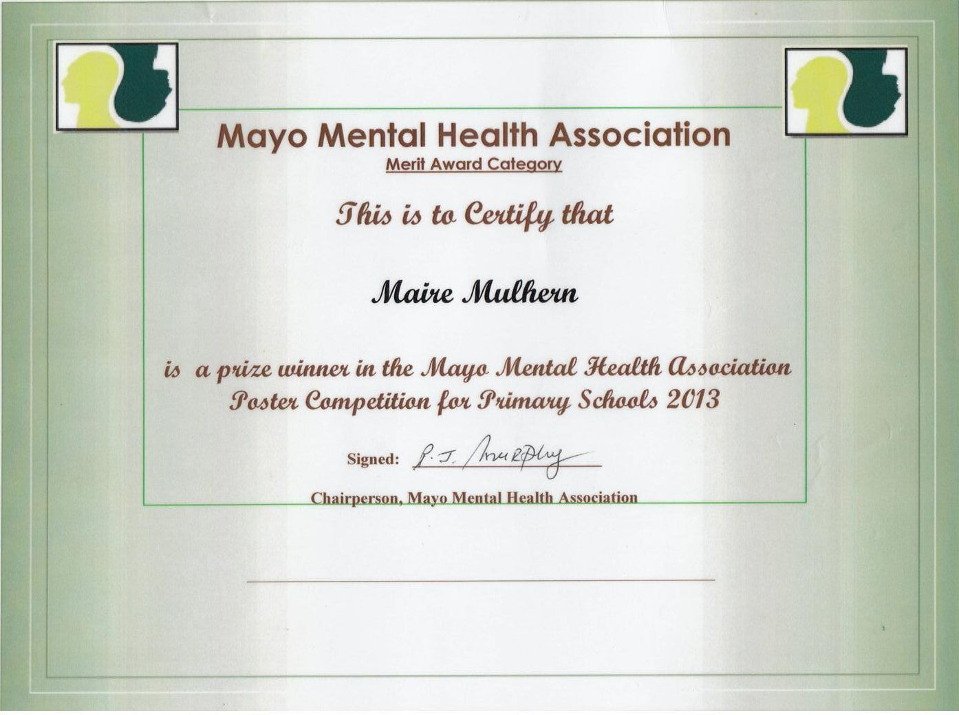 Mayo Mental Health Poster Competition Gortskehy National School