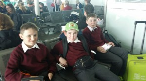 Waiting at Dublin airport for our flight to Zurich.