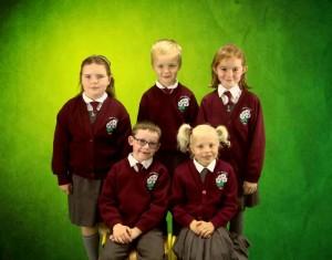 (F) Evan, Aoife (B) Kellyann, Cathal, Ruby