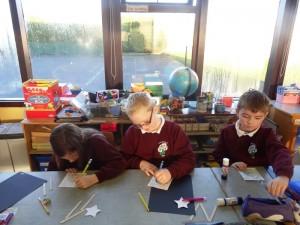 Second class doing art