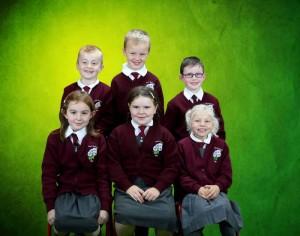 (F) Ruby, Kellyann, Aoife (B) Bradley, Cathal, Evan
