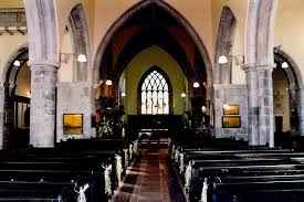 Inside Saint Nicolas' church in Galway.
