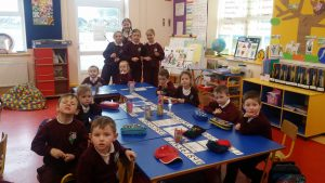 Crosses with Junior Infants.