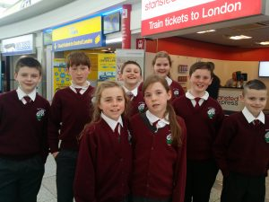 Gortskehy pupils in Stansted airport.
