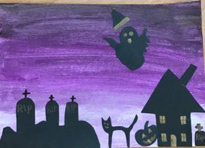 Kellyann's spooky art!