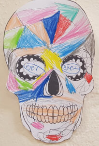 My Halloween Sugar Skull Art