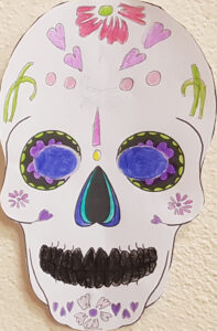 Diane's sugar skull
